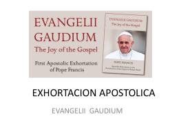 Tema 11a. EXHORTACION APOSTOLICA