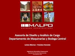 Departamento de Maquinarias y Bodega Central