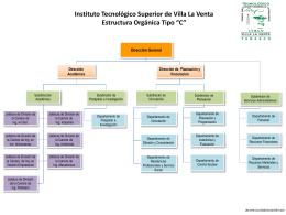 Estructura Orgánica - Instituto Tecnológico Superior de Villa la Venta