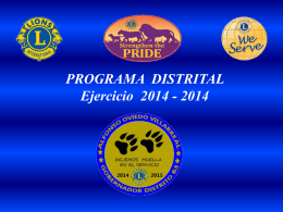 Programa Distrital - Distrito B3 México