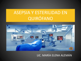 asepsia y esterilidad en quirófano
