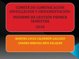 comite de comunicacion, divulgacion y ornamentacion