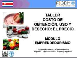 Precio, PPTT - Territorios Centroamericanos