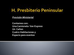H. Presbiterio Peninsular Previsión Ministerial Contamos con