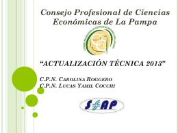 Descargar Material - Consejo Profesional de Ciencias Económicas