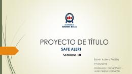 Semana 10 SAFE ALERT