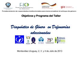 Objetivos y Programa del Taller 1