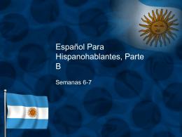 Español Para Hispanohablantes, Parte A