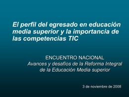 PREFIL DEL EGRESADO EMS Y COMPETENCIAS TIC
