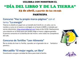 Cartel Día Libro 2015 - AMPA CEIP San Isidoro