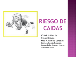 RIESGO CAÍDAS TRAUMA