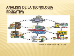 analisis de la tecnologia educativa