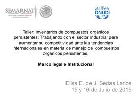 Marco legal e institucional de los COPs en México