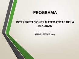 IMR 2014 - Dirección de Educación Técnico Profesional