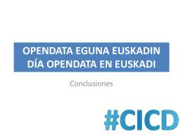 Opendata Eguna Euskadin