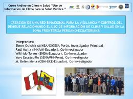 1 EQ Proyecto Red vigilanc clima y salud