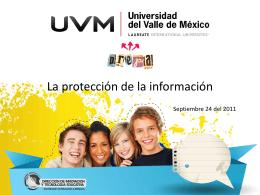La proteccion de la información