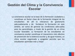 Gestión del Clima y la Convivencia Escolar PP (315