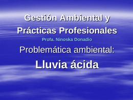 LLUVIA ÁCIDA - Escuela Agraria Durazno