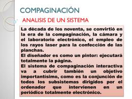 COMPAGINACIÓN