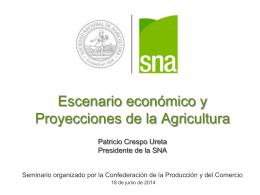 Seminario Escenario Económico Proyecciones Sectoriales