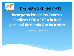 Presentación CATI – SCT