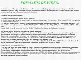 Sandra - Formatos Vídeo - TICO