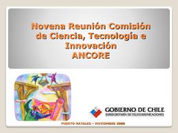 Innovación SUBTEL - Consejo Regional