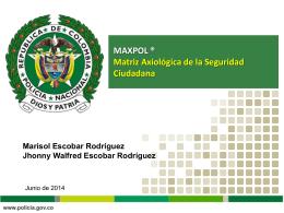 MAXPOL Matriz Axiológica de la Seguridad Ciudadana
