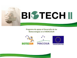 ANEXO III Informe Proyecto Biotech II