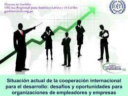 Situación actual de la cooperación internacional