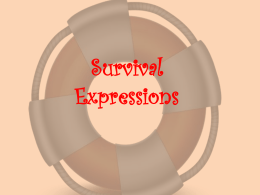 Survival Expressions - SCS World Language Program