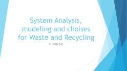 What to choose for waste collection system - SWEEP-Net