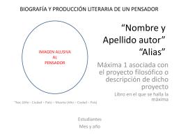 PLANTILLA EXPOSICION biografia y contexto