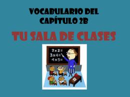 Vocabulario del Capítulo 2B
