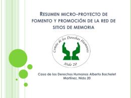 Resumen micro-proyecto de fomento y