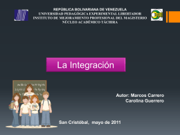 Proceso de integración escolar
