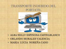 TRANSPORTE INDEBIDO DEL PORTATIL - ParqueSoft