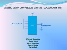 DISEÑO DE UN CONVERTIDOR DE DIGITAL A ANALOGO