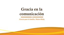 Gracia en la comunicación