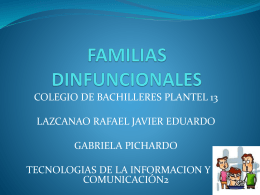 FAMILIAS DINFUNCIONALES