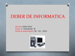 DEBER DE INFORMATICA - InformaticaLiceodelSur