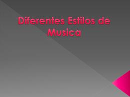 diferentes tipos de musica