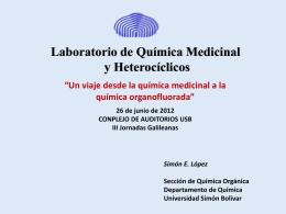 Lab. Química medicinal - Universidad Simón Bolívar