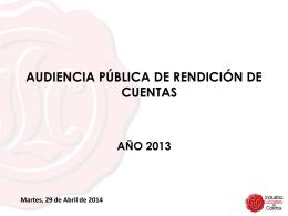 audiencia pública rendicion de cuentas - 2013
