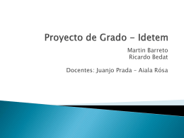 Proyecto de Grado - Idetem