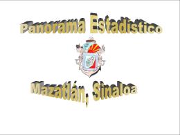 Panorama Estadístico de Mazatlán Sinaloa