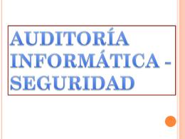 Presentación de PowerPoint - PAUDITORIA