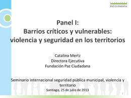 Barrios críticos y vulnerables: violencia y seguridad en los territorios