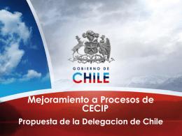 Propuesta de Chile a la CIP